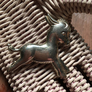 40s Vintage Burro Baby Donkey Brooch